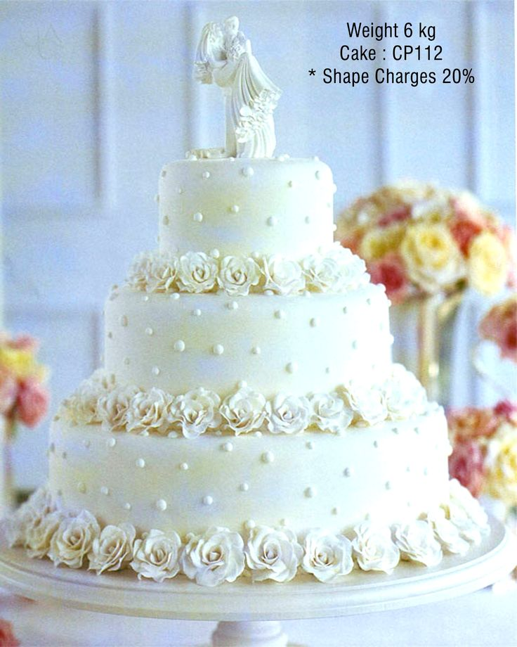 Luscious three-tiered #Cake adorned with flowers :)  Get #creative with your cakes with #CakePark from http://www.cakepark.net/wedding-cakes.html
