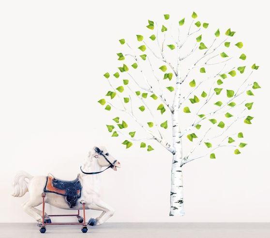 """Naklejka tkanina na ścianę """"Birch Tree M"""""""
