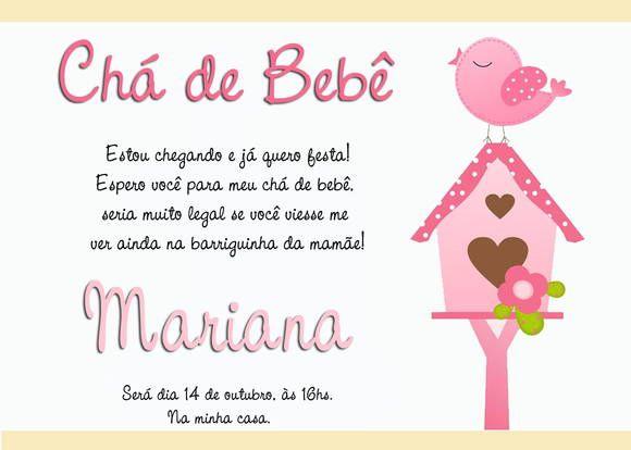 Convites De Chá De Bebê Modelos Para Download Chá De Bebe