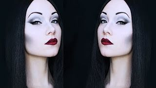 morticia addams makeup - YouTube