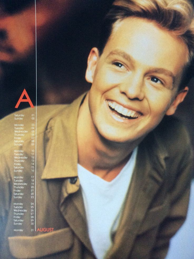 Jason Donovan - Official Calendar 1992 - August Love this one
