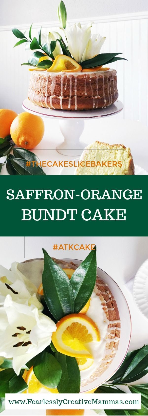 Saffron-Orange Bundt Cake: #TheCakeSliceBakers #ATKcake