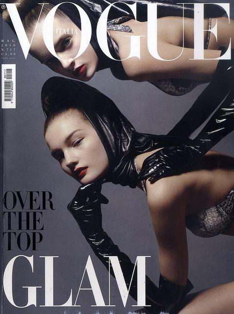 Daria Strokous and Kirsi Pyrhonen by modevogue: Italian Vogue, Art Photography, Steven Meisel, Daria Strokous, Sweet Pyrhönen, Vogue Magazines, Magazines Covers, Covers Art, Vogue Covers