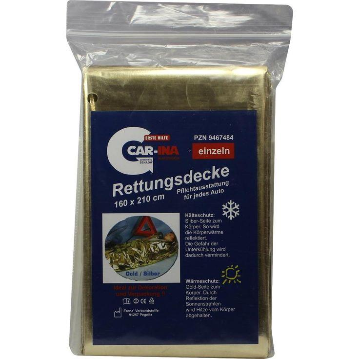 SENADA CAR-INA Rettungsdecke:   Packungsinhalt: 1 St PZN: 09467484 Hersteller: ERENA Verbandstoffe GmbH & Co. KG Preis: 1,81 EUR inkl. 19…