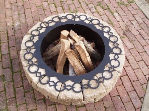 Fire Pit Ring - pretty :)