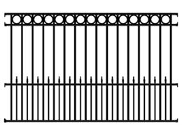 Sonoma Wrought Iron Fence Panel 4 Rail