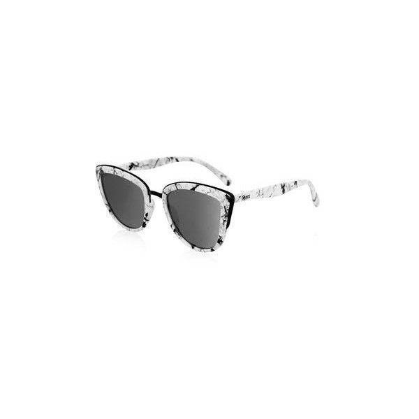 My Girl Siunglasses by Quay Australia (52 AUD) ❤ liked on Polyvore featuring accessories, eyewear, sunglasses, white, summer sunglasses, topshop sunglasses, summer glasses, marble glasses and white glasses