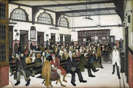 L.S. Lowry Ancoats Hospital Outpatients' Hall 1952  The Whitworth Art Gallery The University of Manchester