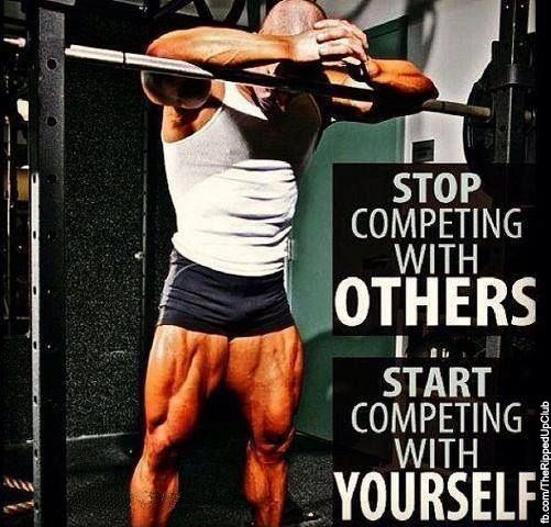 Start competing with yourself!   #fit #fitfab #fitness #fitoverfat