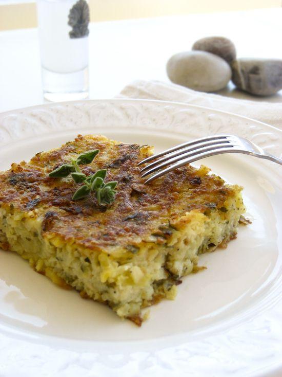 patatopita/greek crustless potato pie