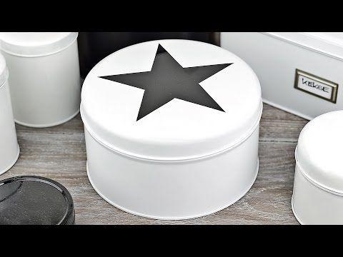 Alte Gebäckdose aus Metall umstylen/lackieren #2 - How to - aus Alt mach Neu / Upcycling - YouTube