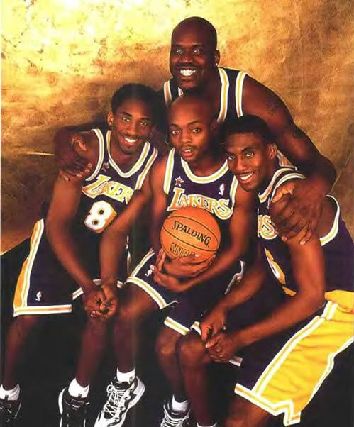 Kobe, Shaq, Nick Van Exel & Eddie Jones