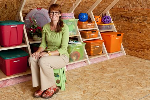 Attic Storage Ideas   ... to Win Free Attic Storage Makeover with Spooky Attic Sweepstakes