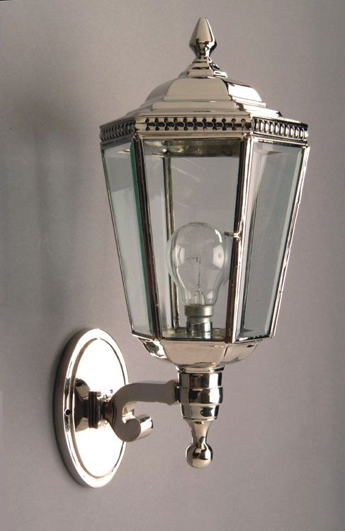 Polished Nickel Period Outdoor Wall Lantern