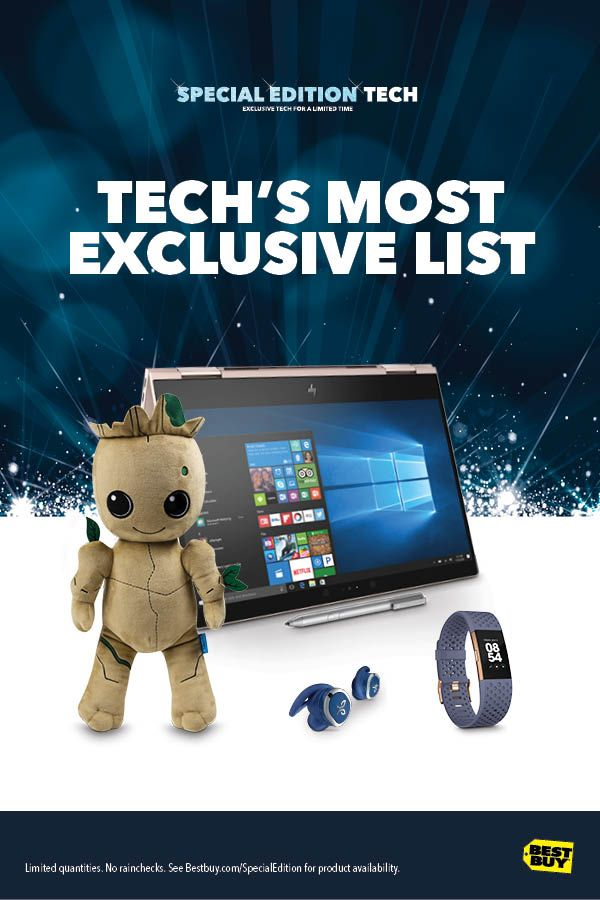 It's Here!—Every year Best Buy gets an exclusive list of products not found anywhere else. The gadgets and gizmos are available for a limited time so don't miss this year's top gifts that you can't get any other place. We've got Star Wars-themed laptops, gaming computers, Pokémon toys and electronics that your family and friends will love. Perfect for last-minute gifts, and that special one you'll want them to wait to open.