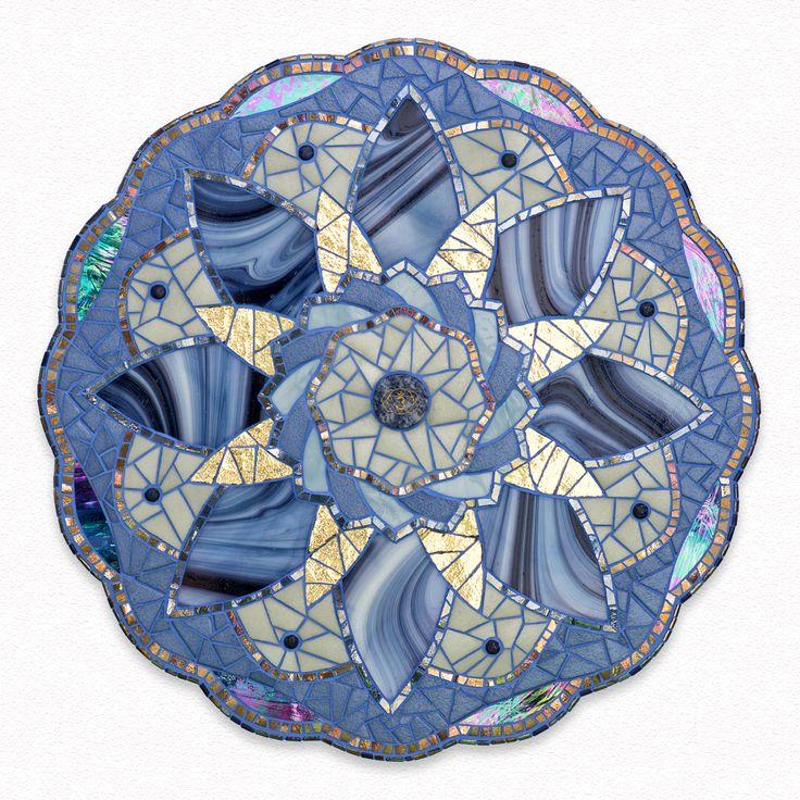 mandala mosaic third eye chakra