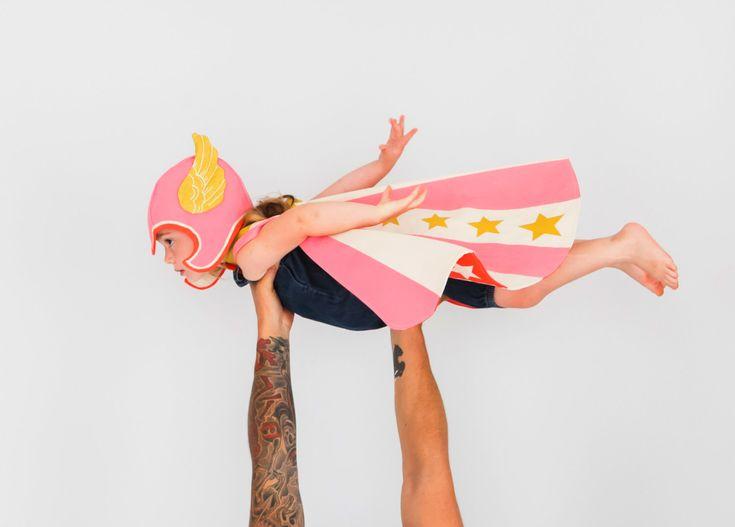 Flying Super Hero Set by lovelane on Etsy https://www.etsy.com/listing/205145749/flying-super-hero-set
