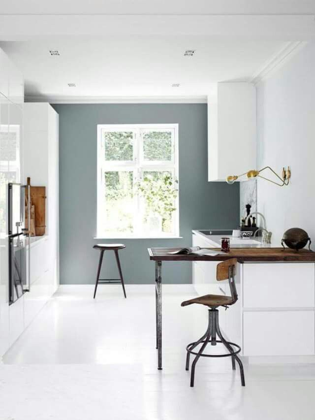 mooie keuken, dwarsblad voor kleine keuken, top