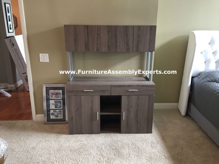 Monarch Specialties Office Storage Credenza Assembled In For A Customer In Tysons  Corner VA By Furniture Assembly Experts LLC | Pinterest | Furniture ...