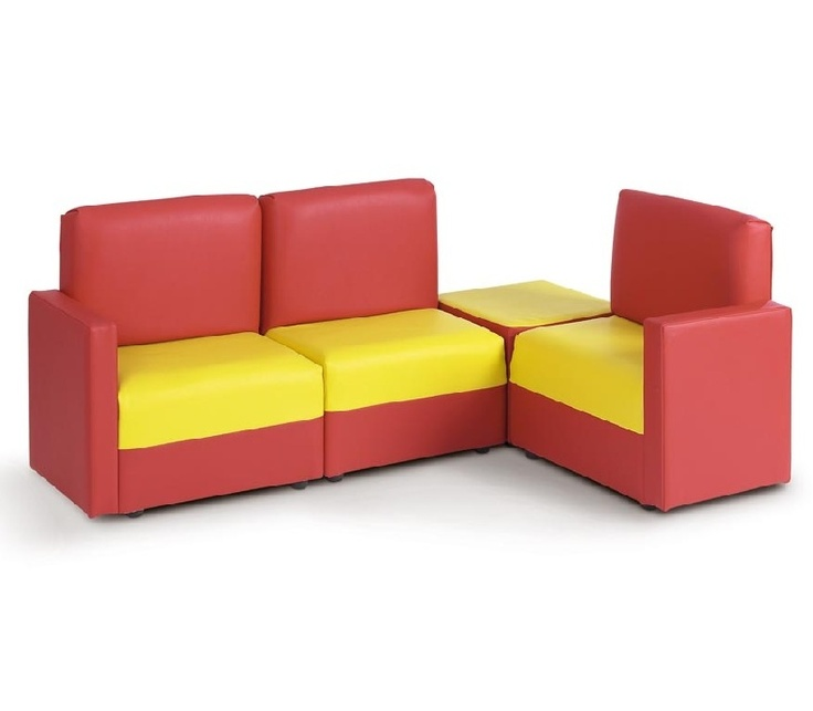 White Leather Sofa This modular faux leather children us corner sofa in red u yellow is perfect for an educational or mercial setting