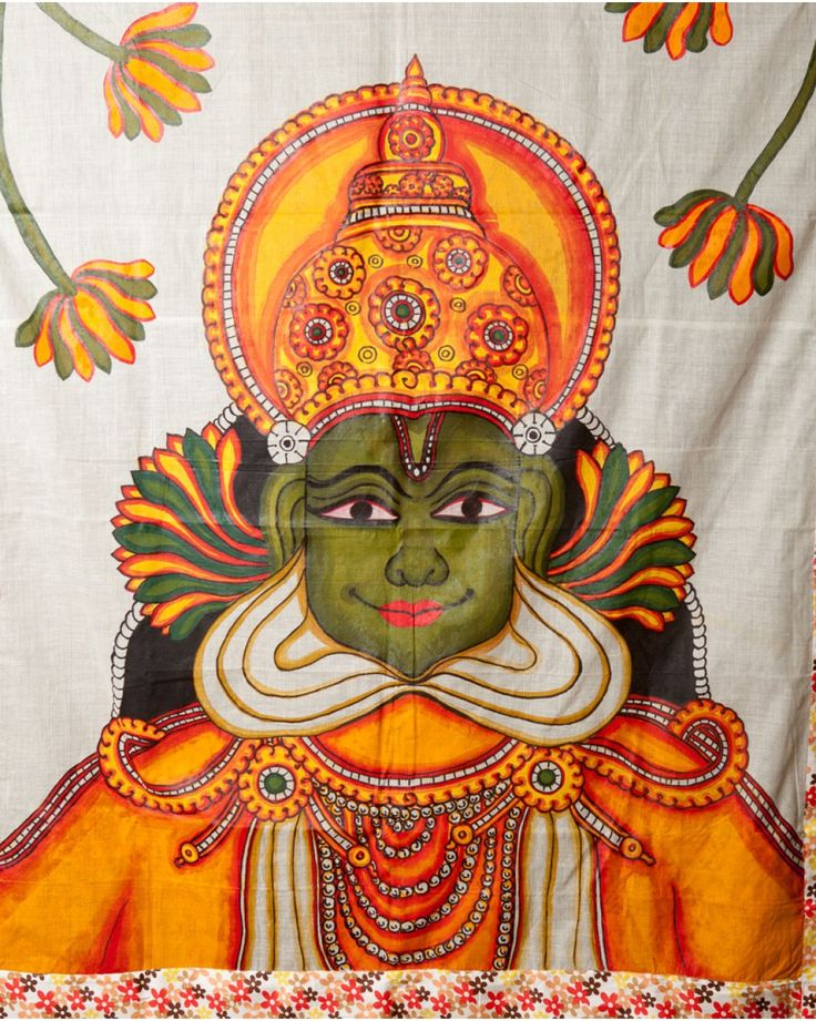 25 best ideas about kerala saree on pinterest indian for Aithihya mural painting fabrics