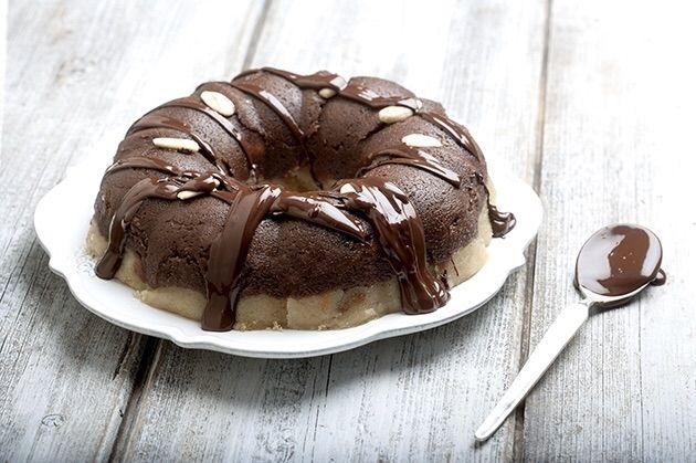 Χαλβάς χωρίς ζάχαρη με σοκολάτα και καβουρδισμένο αμύγδαλο