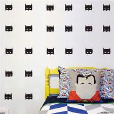 Large 20 batman mask wall decal sticker removable kids room decor black vinyl