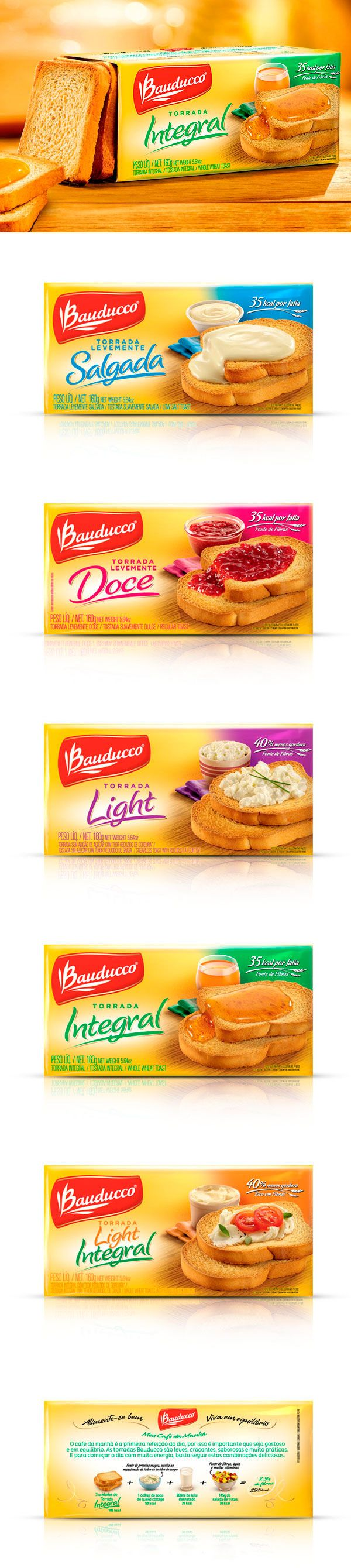 Bauducco Toast Packaging by Design Absoluto [Brazil] www.designabsoluto.com.br