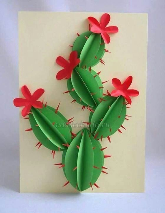 Arts And Crafts Ideas For Kids With Paper Part - 37: Paper Cactus Craft. Summer CraftsCrafts For KidsArt ...