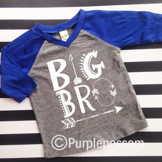 Big Brother Arrow Shirt Raglan Big Brother Shirt by PurplePossom