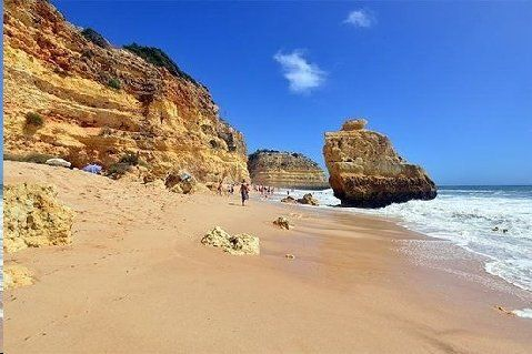 """18. > Praia da Marinha Carvoeiro, Portugal """"Classic Algarve beach with sand, cliffs, rocks, caves, arches—it's got it all. Plus crystal clear water and an abundance of marine life on show"""" Best time to go: May - October Find a place to stay 19 Hotels  6 B&B and Inns  373 Vacation Rentals Tava Travel And Associates"""