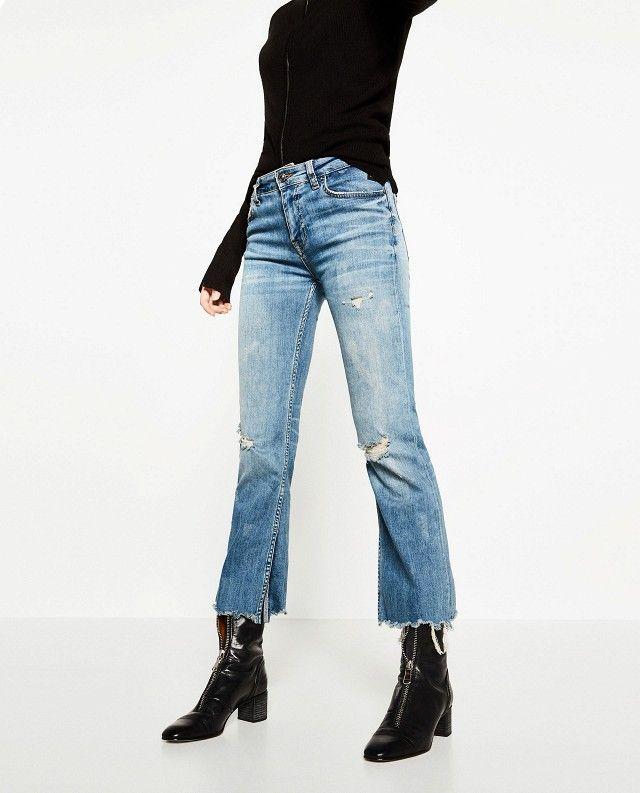 Zara Cropped Bootcut Jeans