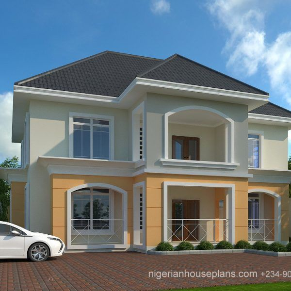 4 Bedroom Bungalow Ref 4038 Nigerianhouseplans House Roof Design Architectural House Plans Bungalow House Design