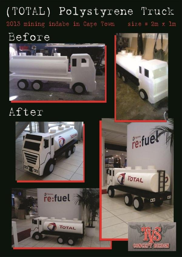 3D polystyrene truck by TVS Concept Design , via Behance