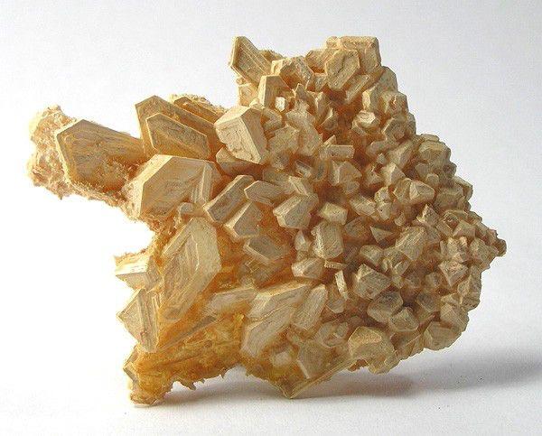 Thenardite, psm after Mirabilite - Boron, Kern County, California.
