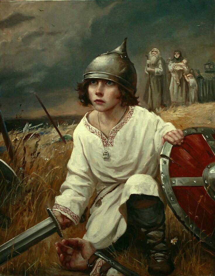 Русич с пелёнок защита для семьи - воин.