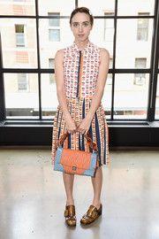 Zoe Kazan Print Dress