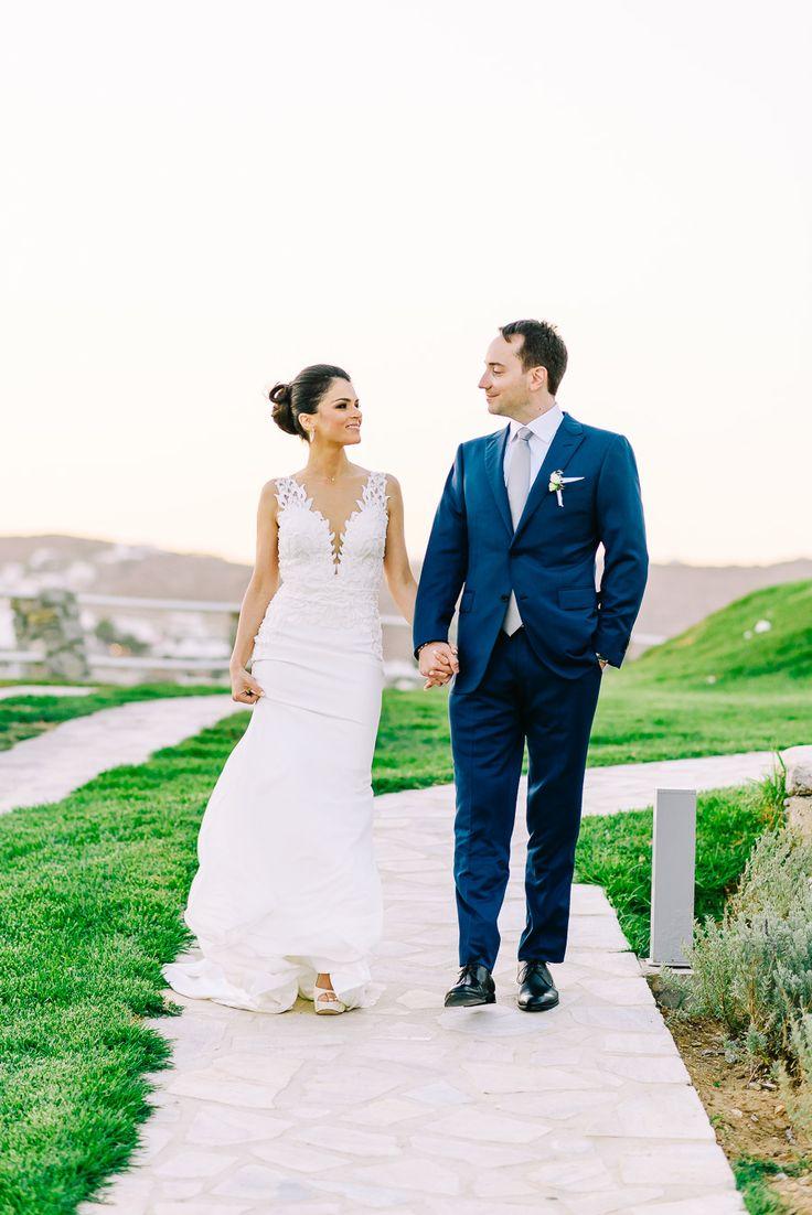 Photography: Elias Kordelakos - eliaskordelakos.com   Read More on SMP: http://www.stylemepretty.com/destination-weddings/2017/04/25/light-airy-mykonos-wedding/