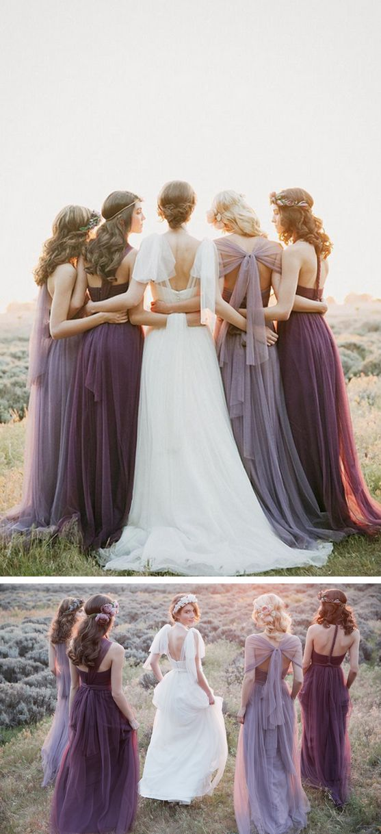 Bridesmaids dresses that can be styled up to 15 different ways?  Yep, it's true! photo: This Modern Romance #bridesmaiddresses   #MoreOnTheBlog