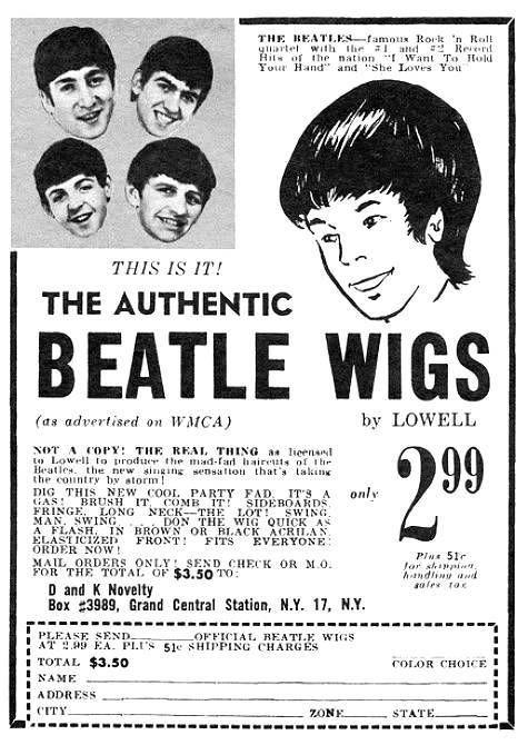 Beatle Wigs... goo goo g'joob