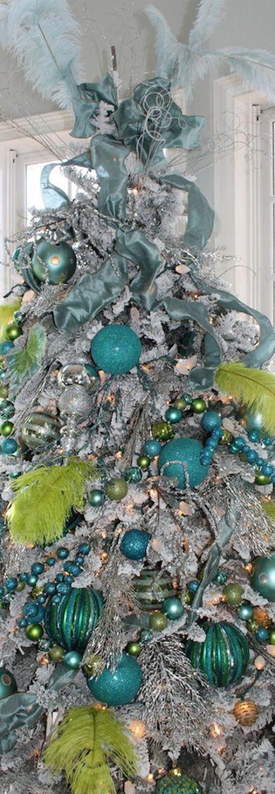Teal and Lime Christmas Tree