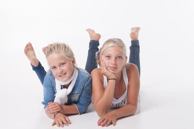 Fotoshoot Sascha met zus
