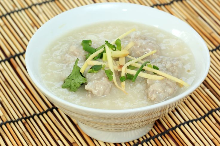 Chinese Rice Porridge Recipe: Comforting Chicken Congee  (Thick chicken/rice soup)