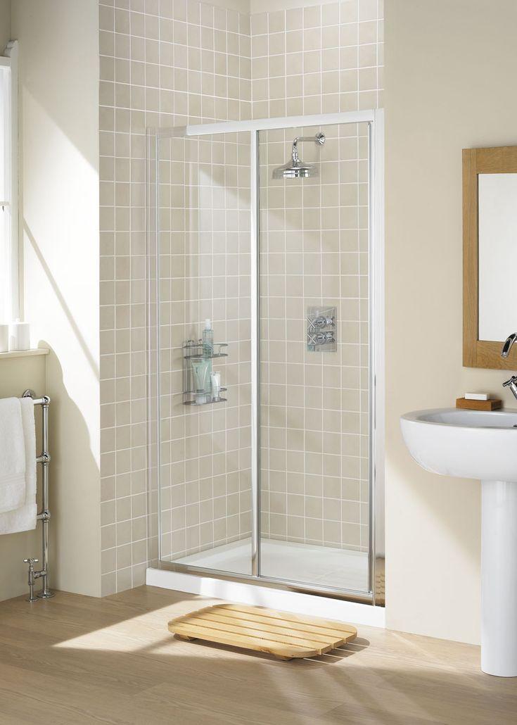 Framed Slider Shower Door    Lakes Bathrooms