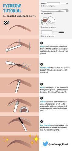 Illustrated Eyebrow Tutorial - Desi Perkins - 5 Steps Routine