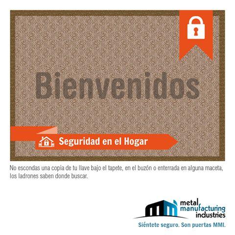 ¿Eres de las personas que guardan las llaves de tu casa debajo del tapete? Entonces sigue el consejo de #Seguridad en el Hogar