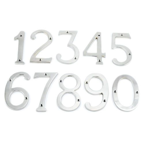 "6"" Satin Nickel Traditional House Numbers, $17.95"