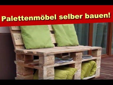 Palettenmöbel Aus Holz   Sitzbank Aus Paletten Selber Bauen   Bastelidee.