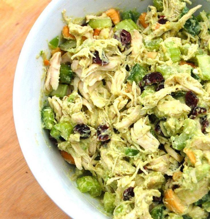 Avocado Cashew Chicken Salad on MyRecipeMagic.com #chicken #salad #recipes