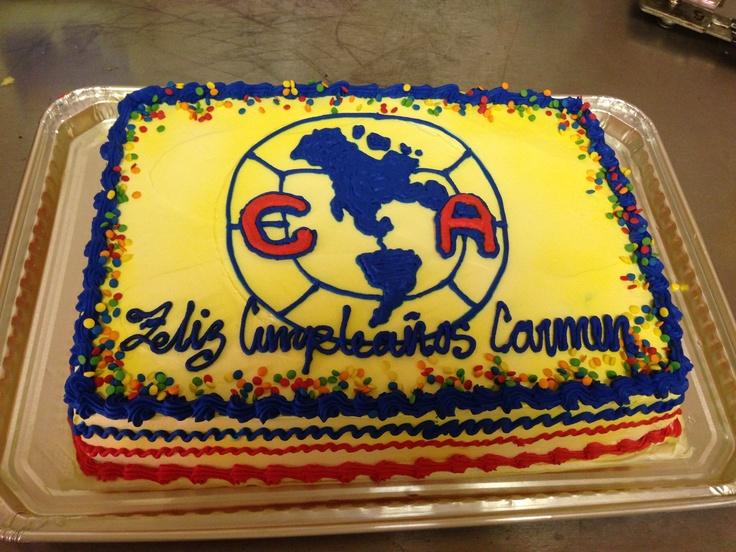 Club America Pastel Ali S Cakes Pinterest America